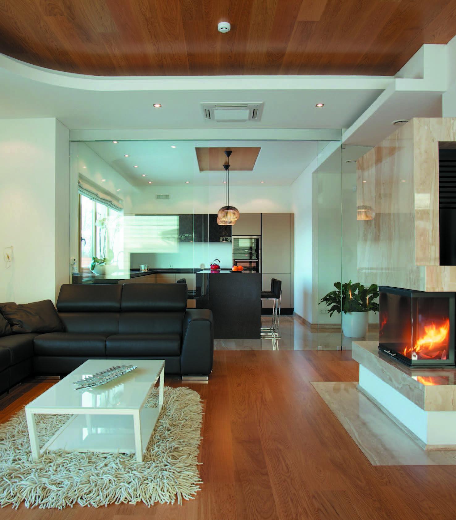 Virtuvė dažniausiai įkomponuojama į svetainės erdvę. Interjeras – Eglės Prunskienės ir Ievos Prunskaitės