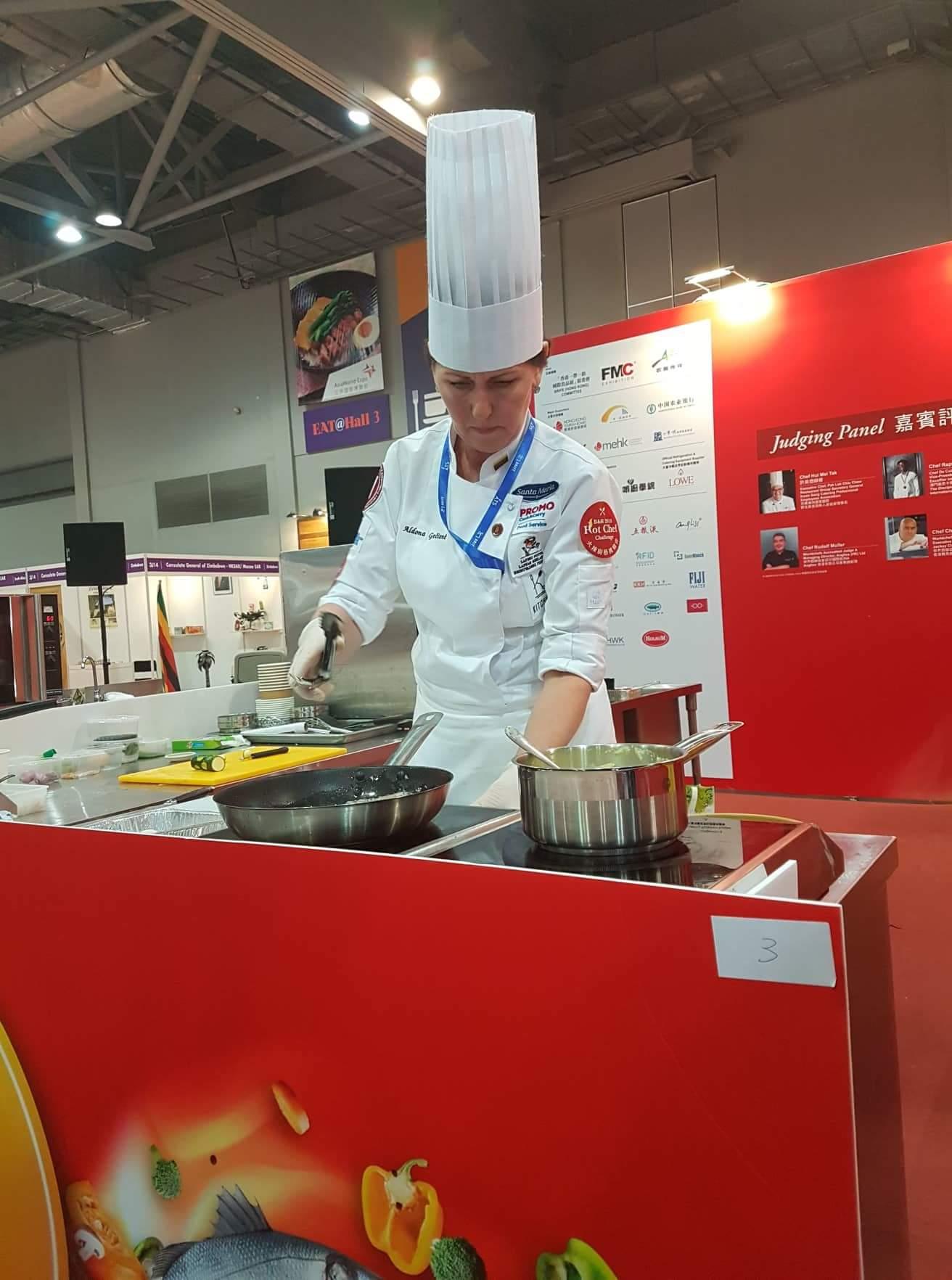 Aldona Gečienė Hot Chef Challange varžybose