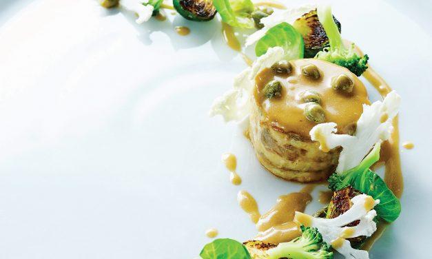 Vilkešerio filė su briuseliniais ir žiediniais kopū stais, brokoliais