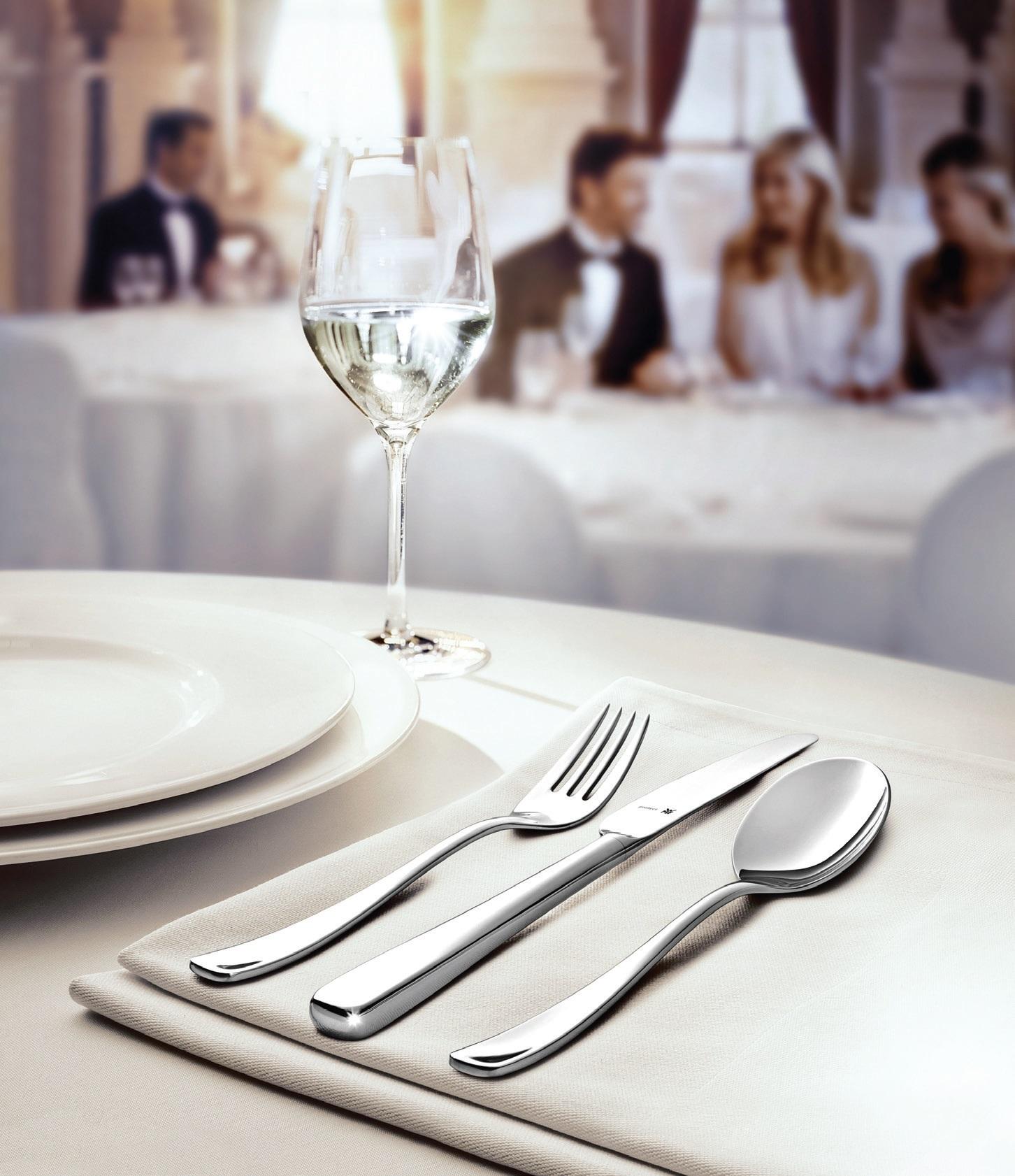 Vestuvinio stalo visuma neįsivaizduojama be kokybiškų, estetiškų bei malonių laikyti įrankių. Jų gali pasiūlyti Vokietijos gamintojas WMF