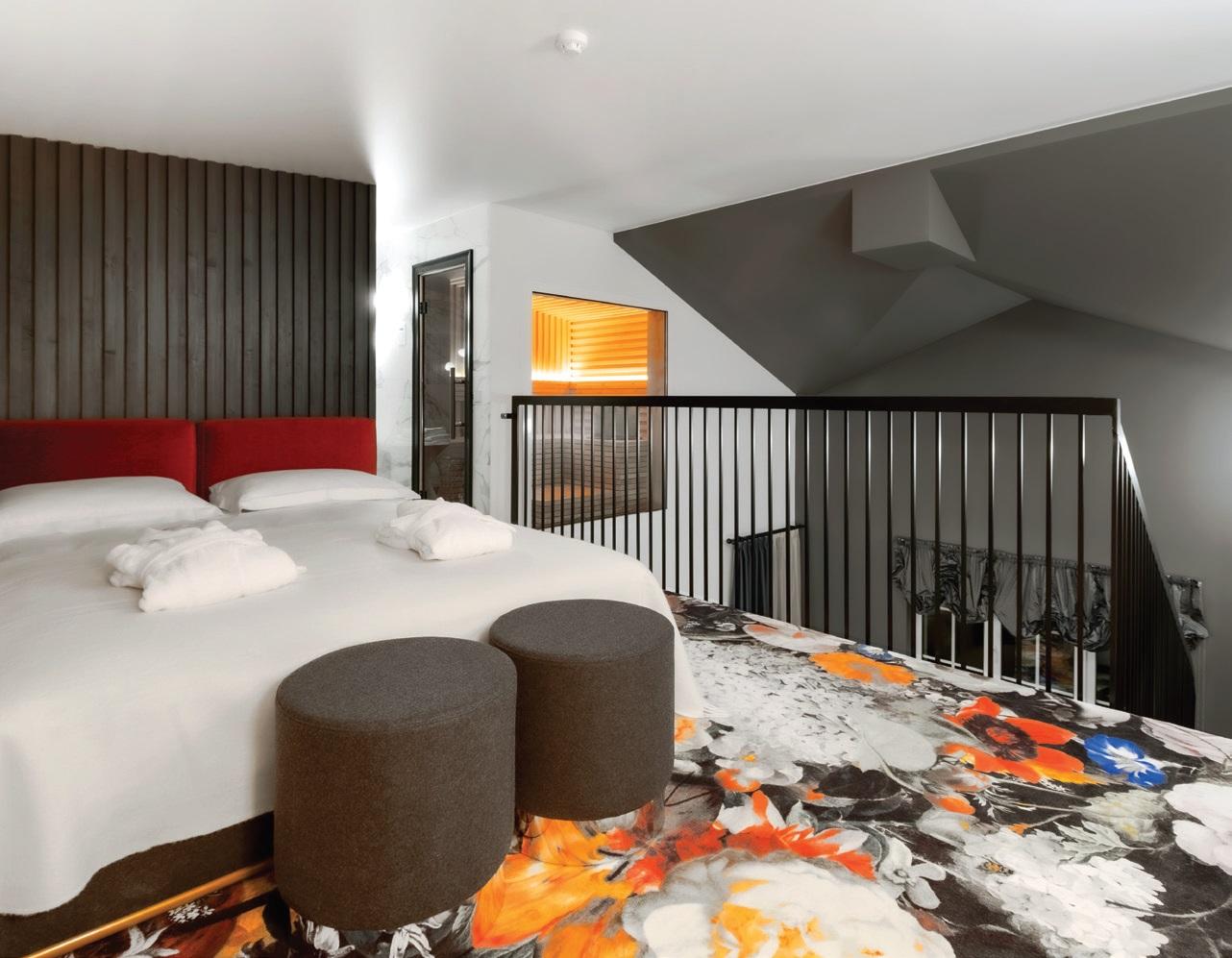 Apartamentuose, kaip ir visame viešbutyje, maloniai stebina iki detalių apgalvoti interjero sumanymai, bylojantys apie nevienadienį požiūrį, pagarbą svečiui