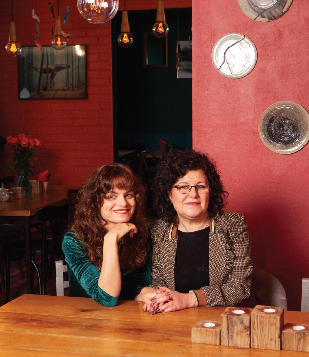 Indrė Armalytė su mama Alina