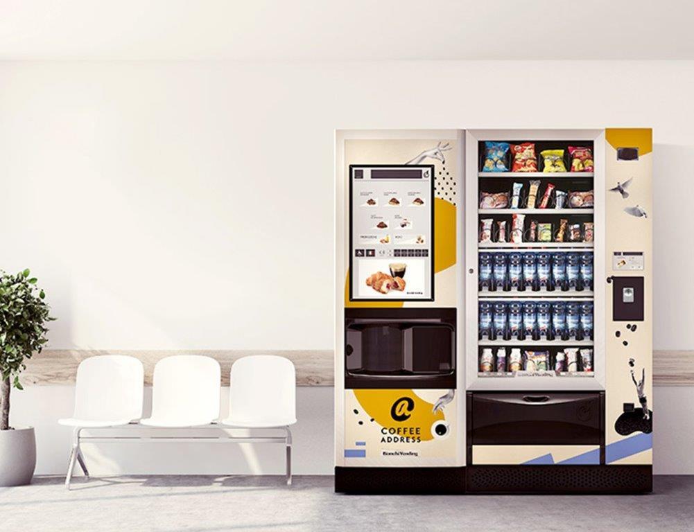 """Karštųjų, šaltųjų gėrimų ir užkandžių """"Vending"""" automatas"""